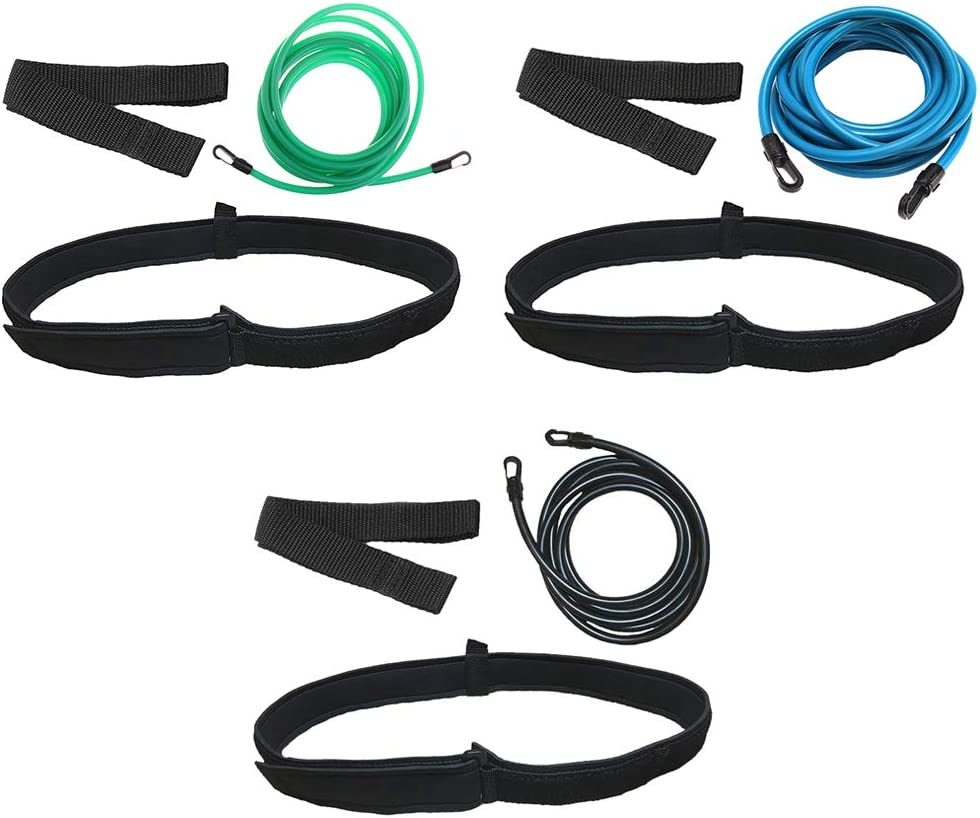 F Fityle 3 Sets Swimming Industry No. 1 Training Cord Belt Waist Surprise price Webbing