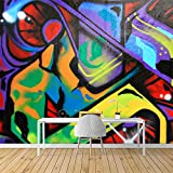 SIGNFORD Wall Mural Graffiti Removable Wallpaper Wall Sticker for Bedroom Living Room - 66x96 inches