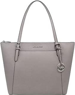 Women's Ciara Large EW Top Zip Tote PVC Leather Bag Pearl Grey