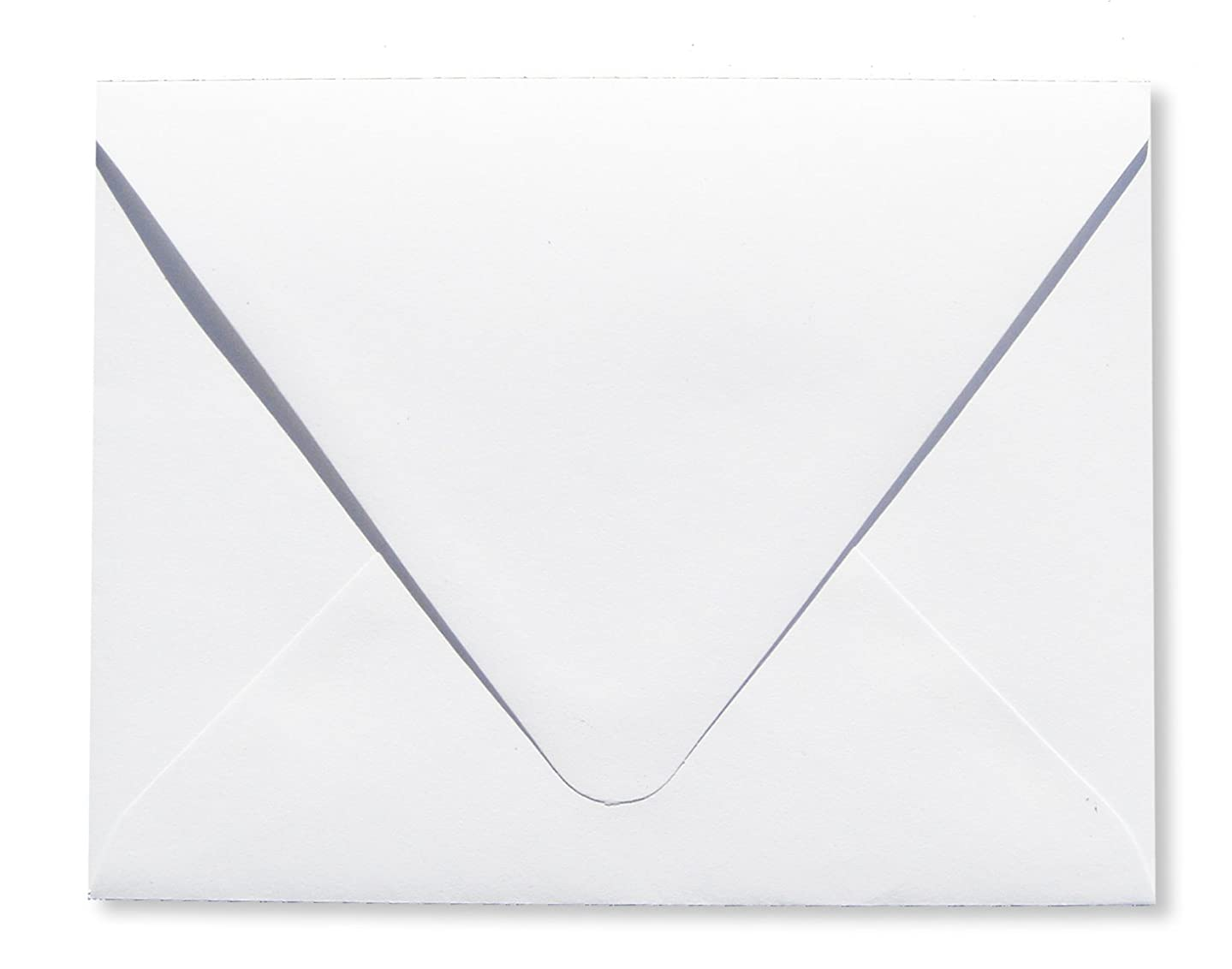 Contour Euro Flap Bright White 50 Boxed 70lb A7 Envelopes (5 1/4 x 7 1/4) Perfect for 5 x 7 Invitations, Announcements, Weddings by The Envelope Gallery