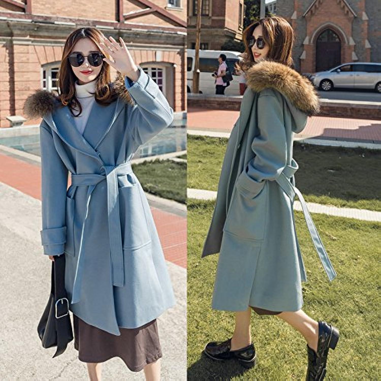 Xuanku Wolljacke Frauen In Den Langen Abschnitt Der Schlanke Frauen Größe Kragen Kragen Woolen Woolen Coat B076MNPL35  Ausgezeichnet