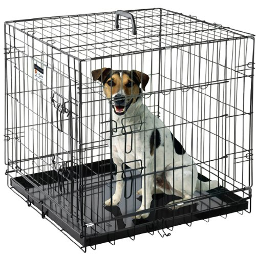 Pet Trex 24' Folding Pet Crate Kennel Wire Cage for Dogs - Cats or Rabbits