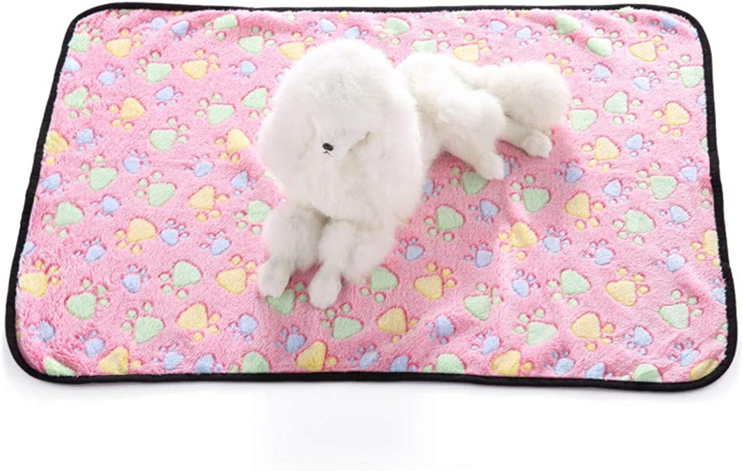 Dog Blanket Super Soft and Fluffy Premium Cat Puppy Throw Blanket, Appealing and Cute Paw Prints Design,B,M