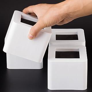 Uping Elevador de Muebles Elevadores Ajustables para Camas Mesas o Mobiliario Agregue Altura de 85CM (4 pack blanco)