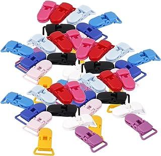simhoa 50x Plastic Pacifier Clips T-shape Pacifier Suspender Toys Bib