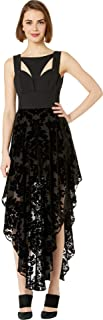 Bebe Womens Contrast Cut Out Burnout Dress Jet Black 4