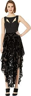 Women's Contrast Cut Out Burnout Dress