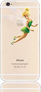 Phone Kandy Frosted Hard Transparent Shell Cartoon Case & Screen Guard for iPhone (HTFA01) (Tinkerbell #2, iPhone 6 6s)