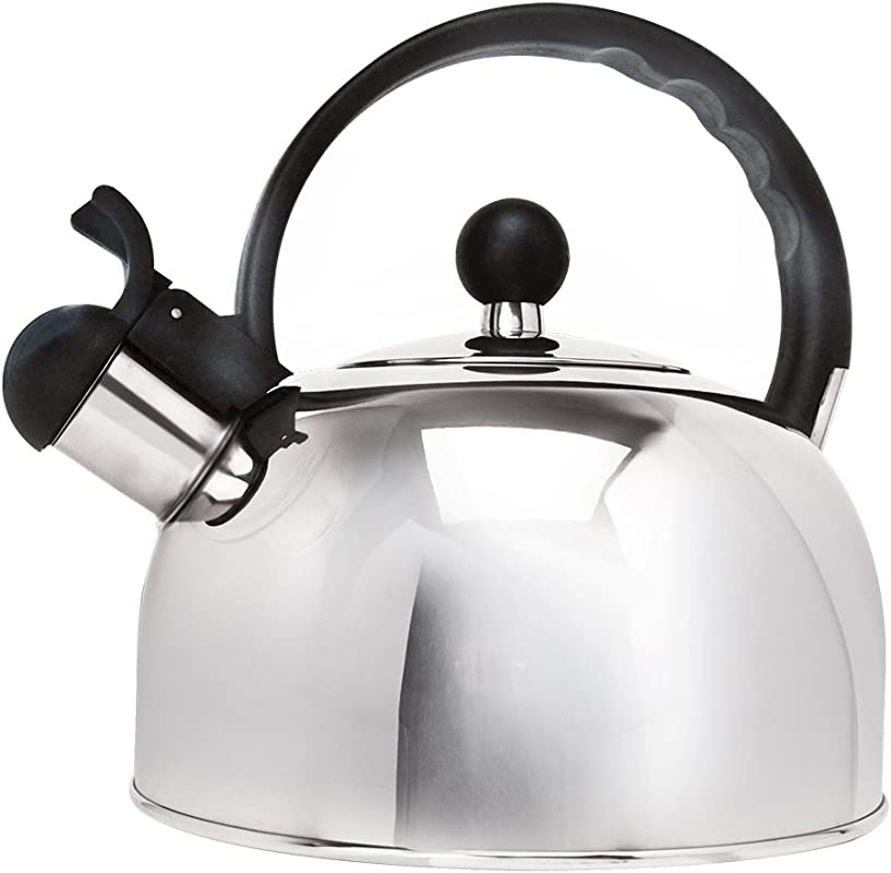 Primula Stainless Steel 2 5 Qt Whistling Stovetop Tea Kettle