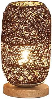 WAJklj Holz Rattan Twine Ball Lichter Tischlampe Raum Home Art Dekoration Schreibtisch Licht Full Light Shading (Color : B...