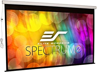 Elite Screens Spectrum2, 120-inch 16:9, 12-inch Drop, Electric Motorized Drop Down Projection Projector Screen, SPM120H-E12