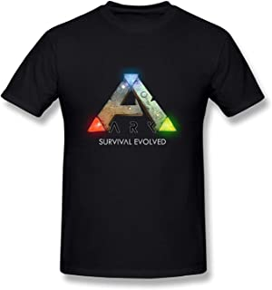 Men's Casual Cotton Cool ARK Survival Evolved Logo Graphic Tee Shirts Short Sleeve O-Neck Sports Teen Tops T-Shirt