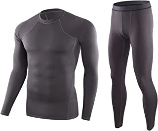 Men's Thermal Underwear Set,Winter Base Layer Long Sleeve Long Top & Bottom,Quick Dry Base Layer Sport Compression Suit