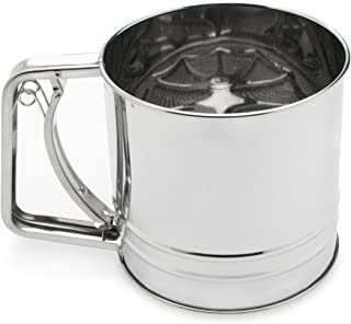Fox Run 4654 Flour Sifter, Stainless Steel, 4-Cup
