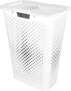 Sundis 358001 Coffre Linge Pixel Slim-Blanc 40L, Plastique, L.57 x l.28 x h.44 cm