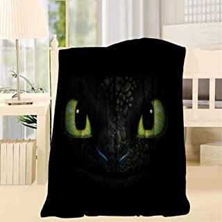 76PQZAF Tooth-Less Dragon Eyes Sherpa Blanket Reversible Fuzzy Flannel Fleece Throw Blanket Twin Size for Couch/Living Room/Winter/Travel