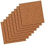 Quartet Cork Tiles, Cork Board, 12' x 12', Corkboard, Wall Bulletin Boards, Natural, 80 Pack (108)