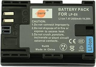 DSTE® LP-E6 Li-ion Batería para Canon EOS 5D Mark II EOS 5D Mark III EOS 5DS EOS 6D EOS 7D EOS 60D EOS 60Da EOS 70D