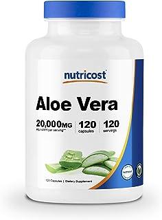 Nutricost Aloe Vera 100mg, 120 Capsules - Gluten Free, Non-GMO, Vegan Friendly