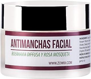 ZOWIX. Crema antimanchas facial. Antiarrugas Hidratante y Reparadora. Crema despigmentante y quita manchas. Unifica y rec...