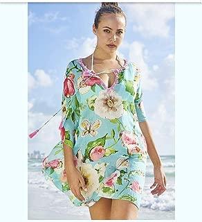 Ethiana Women's Floral Print Cotton Kaftan/Beachwear/Cover Ups Dresses/Swim Dress (Size- S,M,L,XL)