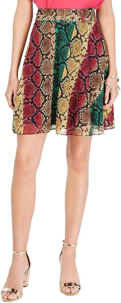 INC International Concepts Python Print Mini Skirt (10)
