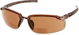 ES5 Reader Crossfire Glasses Diopter 2.0 HD Brown Lens Crystal Brown Frame