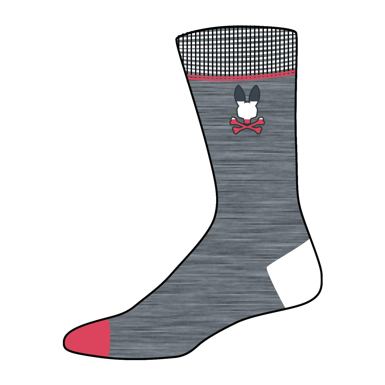 Psycho Bunny Men/'s Colorblock Mid-Calf Length Socks