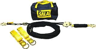 3M DBI-SALA,Sayfline 7600506 Horizontal Lifeline System, 60' Kernmantle Rope with Tensioner, Energy Absorber, Two 6' Tie-Off Adaptors, Carrying Bag, Black