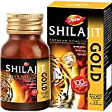 Dabur Shilajit Gold : 100 % Ayurvedic Capsules for Strength , Stamina and Power -20 capsules