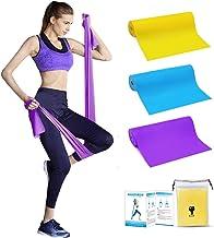 Bandas Elasticas Musculacion - Bandas Elasticas Bandas de Resistencia Fitness, Set de 3 Cintas Elásticas Fitness y Musculación de Látex Natural Agradable a la Piel para Yoga, Pilates, Crossfit