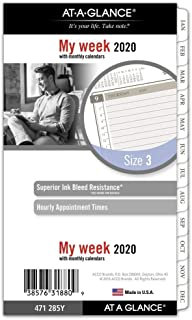 AT-A-GLANCE 2020 Weekly & Monthly Planner Refill, Day Runner, 3-3/4