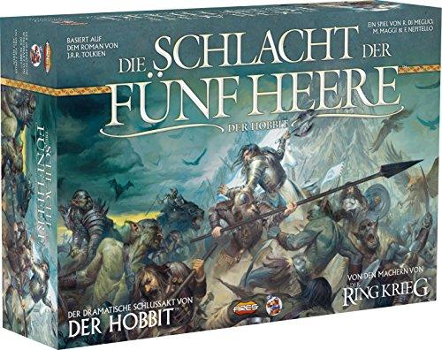 Asmodee HE596 - Hobbit - Schlacht der Fünf Heere - Ein Strategiespiel für 2 Personen