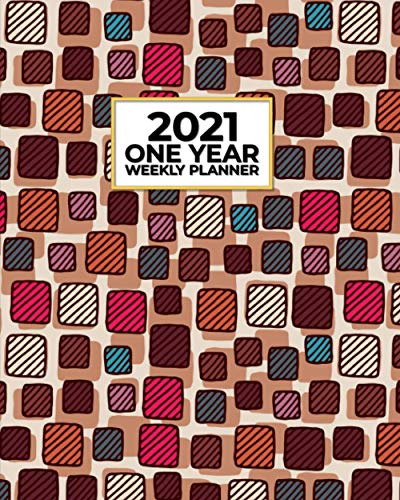 2021 One Year Weekly Planner: Vintage Mid Century Modern MCM Stones Design | Fuel Your Passion! Simple, Effective Daily Organizer...