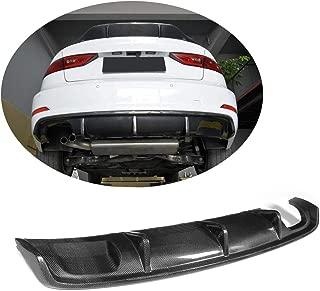 MCARCAR KIT Rear Diffuser fits Audi A3 8V Base Sedan 2014 2015 2016 Non-Sline Non-S4 Factory Outlet Carbon Fiber CF Lower Bumper Lip Spoiler Body Kit