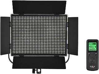 Viltrox VL-D60T Slim 3300K-5600K Bi-Color Dimmable LED Video Light Photography Fill Light with Remote Control Max. Power 60W CRI 95+ for Micro Film MV Recording Portrait Wedding