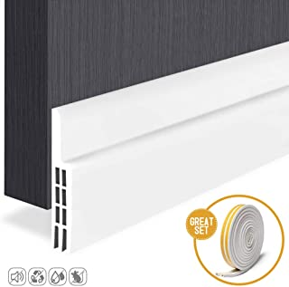 16FT Craftersmark Weather Stripping ranslucence Shower Door Bottom Seal Self-Adhesive Door Draft Stopper Silicone Seal Strip for Doors /& Windows