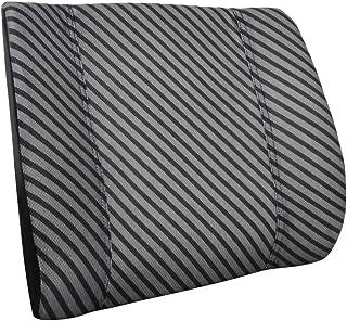 Amazon Basics - Almohada viscoelástica con apoyo lumbar, con rayas, con paneles