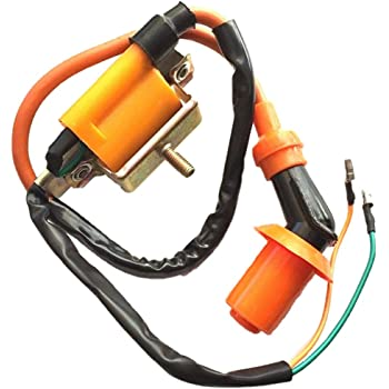 Performance Racing Ignition Coil for Coolster 125cc 3050B ATV-3050B 3050 B3050A 110cc Kids 4 Quad Four Wheeler Roketa Baja Kazuma Meerkat Falcon 50cc 110cc 70cc Chinese Quad ATV Dirt Bike
