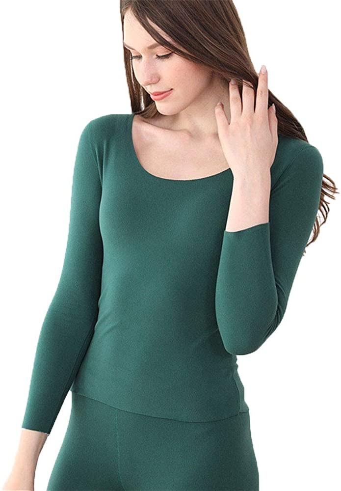 Womens Ultra Soft Thermal Underwear Long Johns Super Comfort Soft Fleece Top