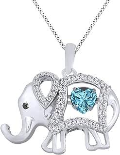 Best aquamarine elephant necklace Reviews