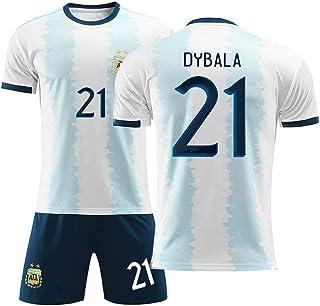 Crstal 2019-20 Dybala 21# Fußball Trikot und Shorts Kinder und Jugend Größe - Geschenke für Kinder Erw. Jungen Baby Fußball T-Shirt Bedrucken Size:24