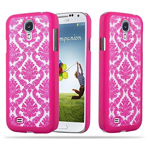 Cadorabo Samsung Galaxy S4 Hardcase Hülle in PINK Blumen Paisley Henna Design Schutzhülle – Handyhülle Bumper Back Hülle Cover