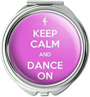 keep calm compact mirror