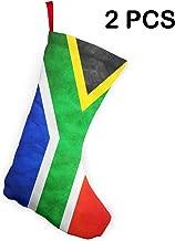 COJOP South Africa Flag Chrismas Stockings,Christmas Decoration Set of 2