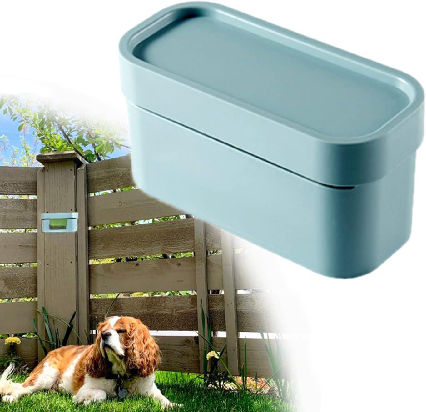 Outdoor Dog Bag Dispenser Wall Mount Poop Bag Dispenser For Yard Pet Poop Bag Holder For Fence Durable Hard Plastic Box, 1 Pack(Green)