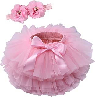 Baby Girls Tutu Bloomers Diaper Cover Cotton Tulle...