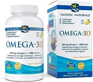 Nordic Naturals - Omega-3D, Cognition, Immune, and Added Bone Support, 120 Soft Gels