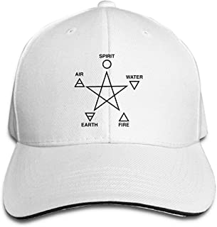 Wicca Wizard Paganism Cap Goth Witch Wiccan Gift Dad hat Baseball Cap Kinky Cloth Pentagram Hat