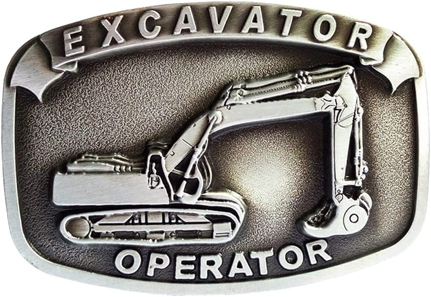 YFQHDD Save money Men's Bronze Zinc Alloy Popular products Shap Excavator Carved Buckle Belt